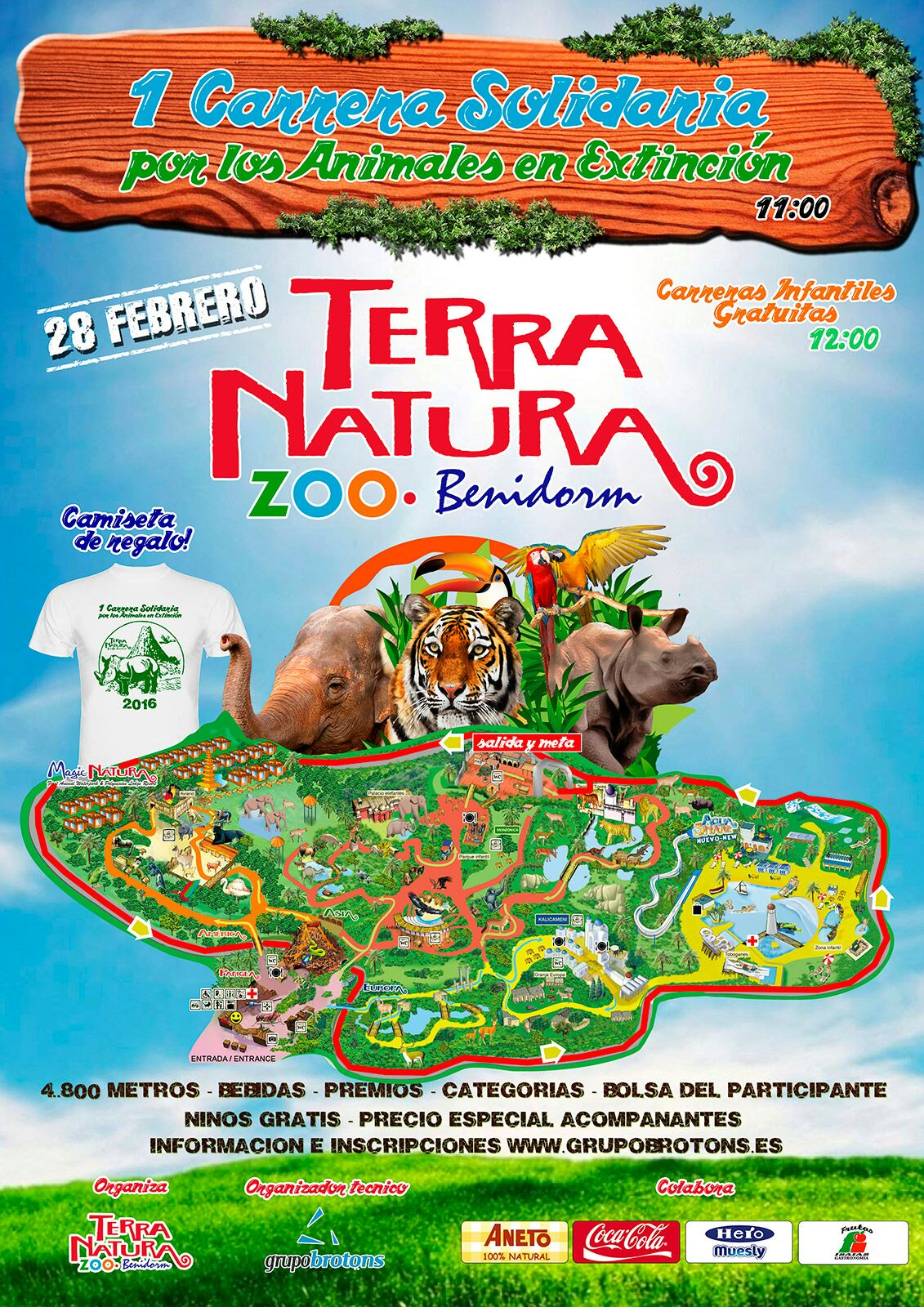 Cartel 1ª carrera solidaria Terra Natural Benidorm